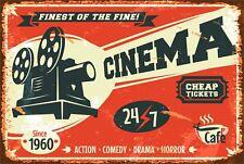 Retro Cinema Classic Movies Bar Pub Home Decor Aluminum Vintage Sign