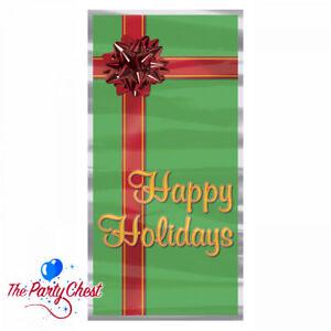 1.5M HAPPY HOLIDAYS CHRISTMAS DOOR COVER Festive Christmas Door Decoration 20010