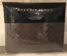 (1) Ralph Lauren Wyatt Quilted Standard Pillow Sham Metallic Gray  MSRP $130
