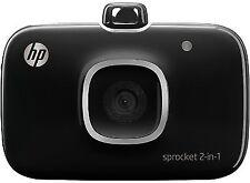 HP Sprocket 2-in-1 Camera Photo Printer - Black