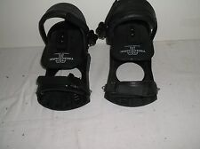 Snowboard  Bindings Black Size Medium/Large New Strap-In Two Discs Technine