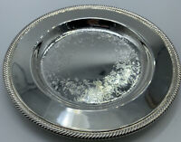 """Wm.Rogers 10"""" Round silver plate  Serving Tray Chased Design 811"""