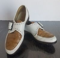 Vintage Lady Mulligans by Weinbrenner Golf Shoes Saddle Leather Union Made Sz 7