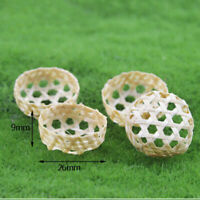 1:12 Miniature bamboo basket dollhouse diy doll house decor accessories Gy