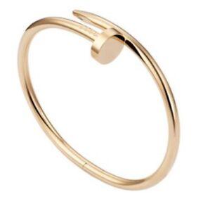 Cartier Juste un Clou 18k Rose Gold Nail Bracelet Size 17 (Only RG For Sale)