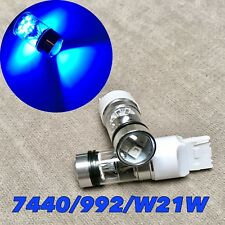 Rear Signal Light BLUE XBD LED bulb T20 7440 992 WY21W For Ford GM JEEP