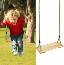 Wood Rope Tree Swing Seat Set for Children Indoor and Outdoor Play