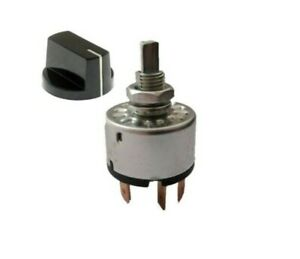 Rotary Air Conditioning Motor 4 Position 3 Speeds Selector Switch With 27mm Knob