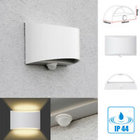 LED Wandleuchte Außenleuchte Bewegungsmelder Fassaden-Wand-Lampen Sensor IP44