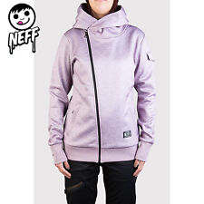 Neff Francesca Technical Snowboard Ski Jacket Hoodie Fleece Purple M Waterproof