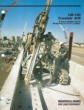 Equipment Brochure - Ingersoll-Rand - Lm-100 - Crawlair Drill - 1985 (E4753)