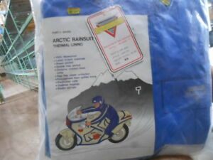 Vintage Nelson Rigg Motorcycle One Piece Arctic Thermal Lined Rainsuit Rain Suit