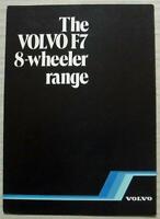 VOLVO F7 8 WHEELER RANGE Truck Commercial Sales Brochure Oct 1982 #RSP F7/8