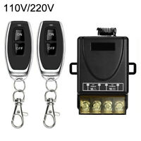 AD_ 110V/220V Channel Relay Wireless RF Remote Control Switch Kit 2 Transmitter
