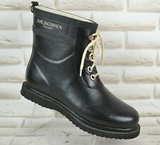 ILSE JACOBSEN Womens Wellington Boots Ankle Rain Wellies Black Size 7 UK 40 EU