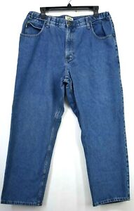 LL Bean Mens Blue Straight Leg Casual Cotton Comfort Waist Denim Jeans 37 x 29