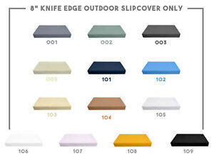 """8"""" Thickness KNIFE EDGE Outdoor Daybed Mattress Fitted Sheet Slip Cover Only"""