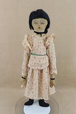 "25"" vintage antique cloth rag handmade doll 1930s -1940s"
