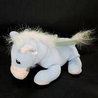 Pegasus Precious Moments Tender Tails Plush Stuffed Animal Blue Shiny WIngs Pony