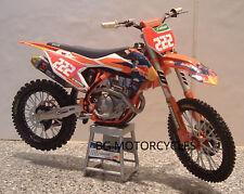 2017 Bicicleta De Motocross Modelo 1:12 Tony Cairoli Red Bull KTM 222 SXF 450 Ltd 9 tiempo