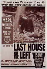 LAST HOUSE ON THE LEFT Movie POSTER 11x17 Sandra Cassel Lucy Grantham David Hess