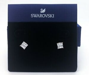 New Authentic SWAROVSKI Rose Gold Attract White Stud Pierced Earrings 5431895