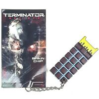 Terminator T800 CPU Endo BRAIN CHIP Replica Metal Keyring Loot Crate NEW