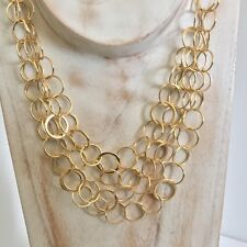 14k necklace Multi Circle Chain Yellow Gold 13.3 gram 14kt karat 585 14