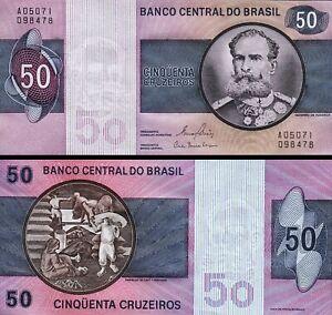 Brazil 50 Cruzerios 1980, UNC, P-194c, Sign 20