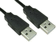 1m USB Cable A Male To A Male Plug Shielded High Speed 2.0 28awg Lead Black