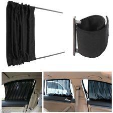 2 Pcs Black Adjustable VIP Auto Car SUV Window Windscreen Mesh Style Curtain