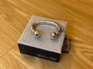 """NWT Uno de 50 Silver-plated Rigid Bracelet - Medium """"Zen"""""""