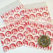"100 Red Bull Dogs Apple Baggies, 1.5 x 1.5"" mini ziplock bags 1515"