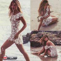 Donna Prendisole Costume Da Bagno Cavo Bikini Copricostume Usura Vestito, Estate