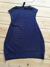 Rundholz tulipanes vestido Big camisa m D. azul nuevo Blueberry Dot Bubble dress CDG NWT