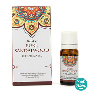 Pure Sandalwood - Goloka Pure Aroma Oil - Aromatherapy Diffuser Oil, Reed Oil