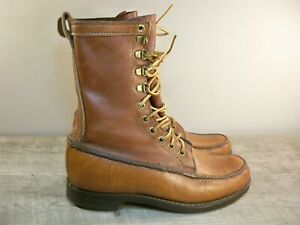 Classic Orvis Upland Men's Leather Hunting Hiking Work Sport Boots Size 7 Wide
