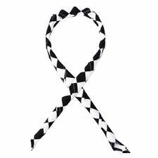 More details for whites chefs clothing unisex neckerchief bandana white black over size