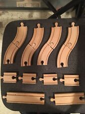 Brio Wooden Railway Track Lot Straights Curves Switches Well Loved Color Bridges