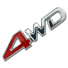 CHROME 4WD EMBLEM/BADGE FOR TRUCK/SUV/PICKUP REAR TAILGATE TAIL GATE DOOR 4X4 A