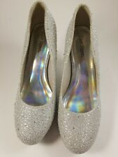 Prom Shoes Silver Jewel Sparkle