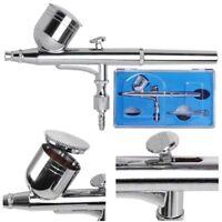 Dual Action Airbrush Gun 0.3mm Nail Art Paint Spray Makeup Gravity Feed Hobby