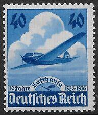 Nazi Germany 3rd Reich Mi# 603 MH 10th Anniversary of Lufthanas Airways 1936 *