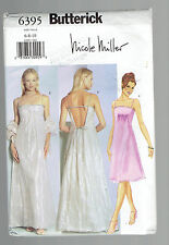BUTTERICK pattern 6395 party prom dress stole Sz 6 8 10 uncut unused