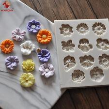 Mini Flower Silicone Fondant Cake Mold Sugarcraft Chocolate Decor Baking Mould