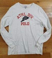 Mens Ralph Lauren Long Sleeve White Slim Fit Top Size XL