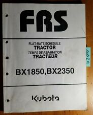 Kubota Bx1850 Bx2350 Tractor Flat Rate Schedule Manual 97897 31720 106