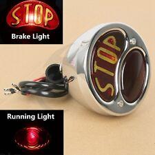 STOP Chrome Rear Brake Tail light For Harley Davidson Softail Sportster Roadster