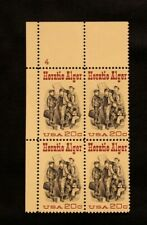 US Stamps #2010 ~ 1982 HORATIO ALGER 20c Plate Block MNH