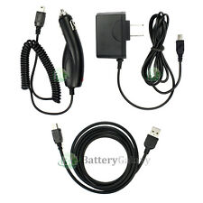 NEW USB Cable+Car+Wall Charger for TomTom One XL XXL 325S 330S 350S 550S 50+SOLD
